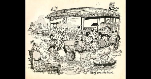 Five classic drawings by Mario Miranda