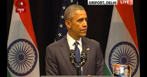 Obama reminds India that it is secular, even as government's Republic Day ad omits the word