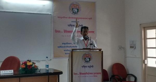 At Delhi University's Vedic Chronology seminar, discussions on flying chariots, Mahabharat-era TV