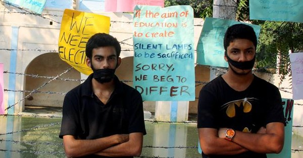 In pictures: Protests in EFL University Hyderabad over notices to students for Facebook posts