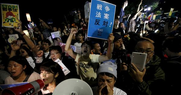 Japan's government has politicised a generation with its militarism