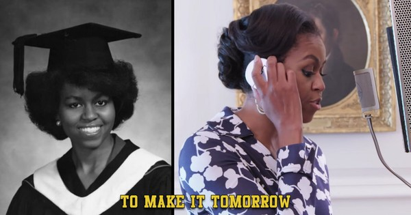 Watch Michelle Obama rapping to get America's kids to college