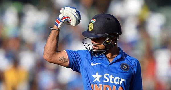 1st T20: Virat Kohli drives India to 188-3 against Australia