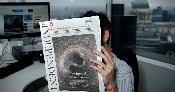 The Independent newspaper dies as it was born – in the white heat of technology