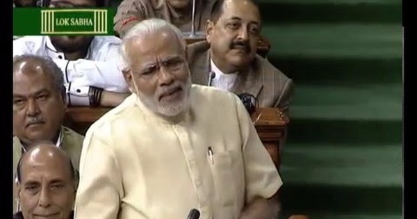 Watch Prime Minister Modi respond to Rahul Gandhi in Parliament, with a Khrushchev anecdote thrown in