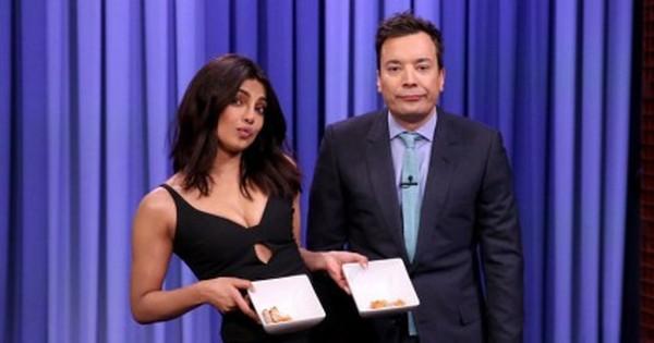 [Video]: Watch Priyanka Chopra beat Jimmy Fallon at chicken wing eating