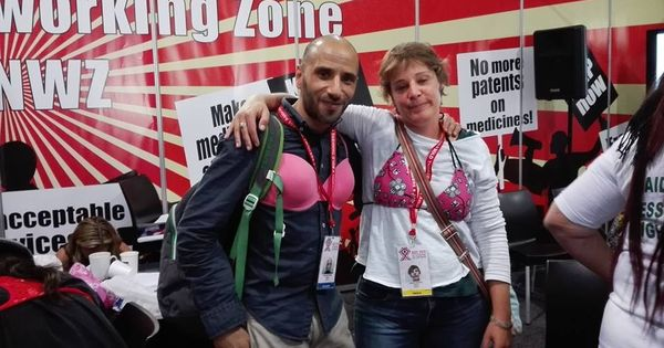 Photos: Why women and men wearing bras ambushed a pharma giant in Durban