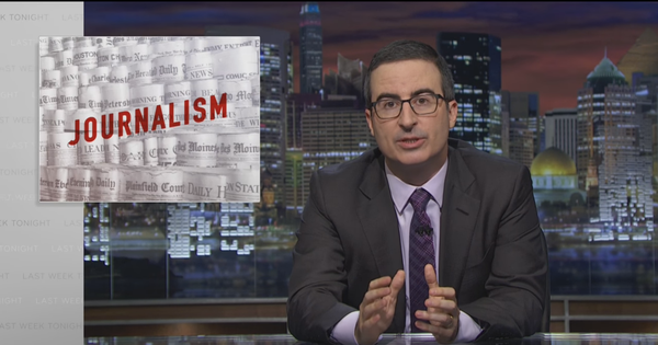 Watch John Oliver on what's wrong – and what's right – with newspapers (and why it matters)