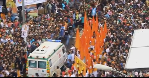 A crowd makes way for an ambulance. The video goes viral. That says everything