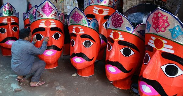 Despite threats, a village in UP mourns Raavan as the rest of India prepares to celebrate his death