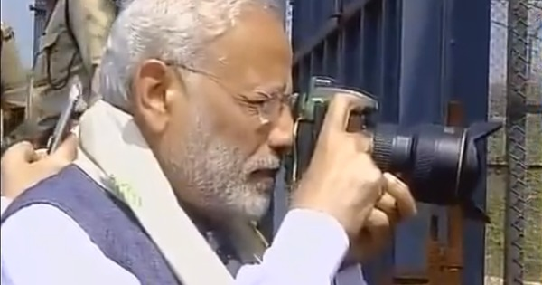 We know PM Narendra Modi likes taking selfies. Now watch him doing some 'wildlife' photography