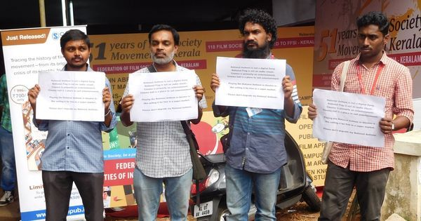 Kerala film fest: Delegates protest arrest of six cinephiles who did not stand for national anthem