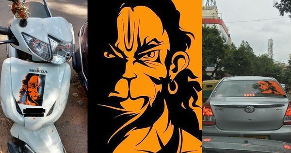 The mystery behind why Bengaluru is covered in stickers of 'angry Hanuman'