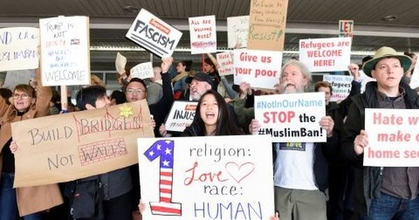 Watch protests across United States airports in response to Donald Trump's order
