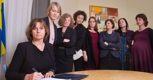 Swedish deputy PM trolls Donald Trump with all-women photo of her signing climate Bill