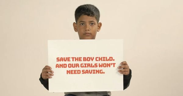 'I need the saving, not girls': In this ad young boys urge parents to raise their sons right