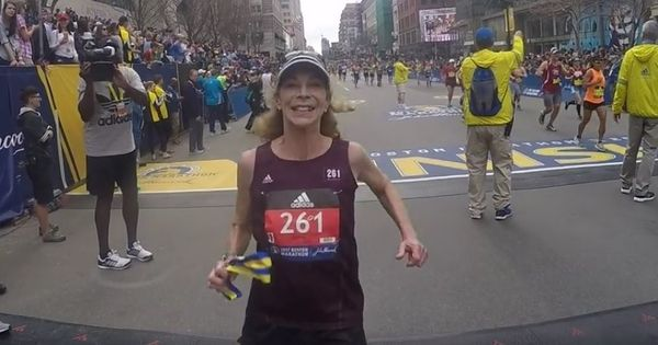 The first woman to run the Boston Marathon does it again 50 years later