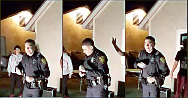 Watch: Called to break up a dance party, policeman takes all the right steps