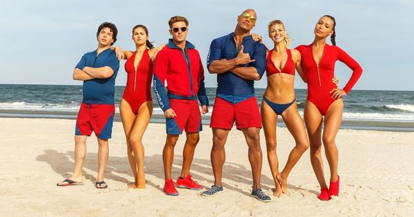 'Baywatch' revisited: Slo-mo sprints, fire engine-red  swimwear and cheap thrills
