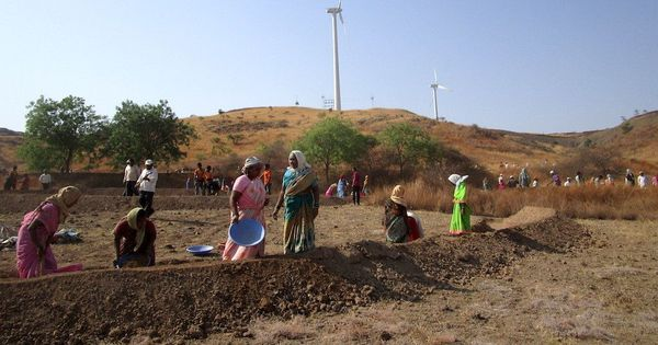 Drought-prone villages in Maharashtra are competing to harvest water for irrigation