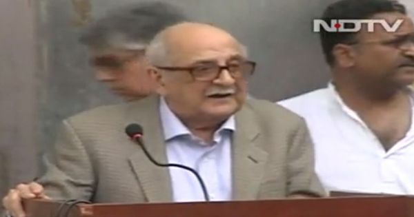 Full text: Fali Nariman explains why the CBI raid on NDTV was an attack on press freedom
