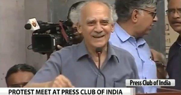 Full text: Narendra Modi regime's 'genes are totalitarian', says Arun Shourie