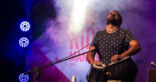 Watch: Karsh Kale performs before awed students and gives them a lesson in fusion music