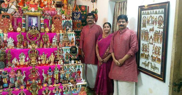 This Navratri season, meet the golu experts of Chennai – the Mylapore Trio