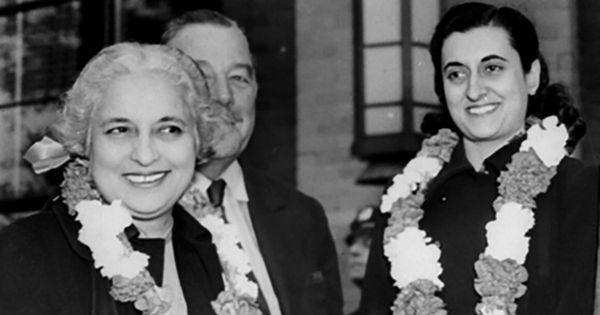 When her aunt Vijaya Lakshmi Pandit took on Indira Gandhi for crushing democracy and dissent