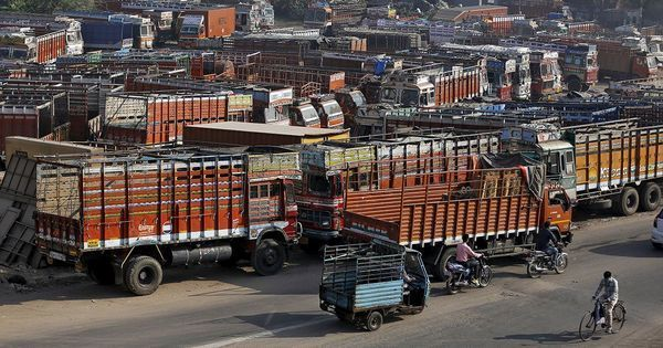 Truckers begin 36-hour strike to protest GST, high diesel prices