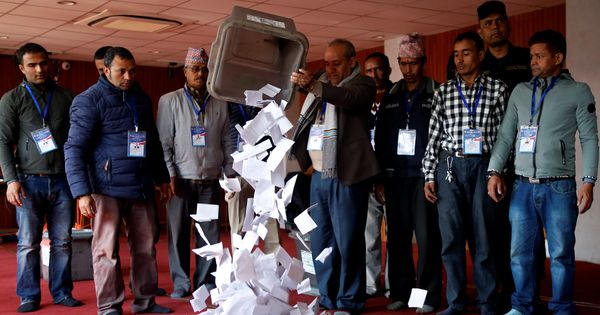 Communist parties on course for victory in Nepal elections