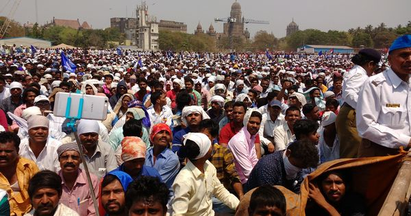 Thousands rally in Mumbai to demand the arrest of alleged instigator of Bhima Koregaon violence