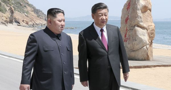 North Korean leader Kim Jong-un meets Chinese President Xi Jinping for the second time in two months