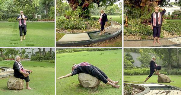 'U-turn asana': Twitter plays with Narendra Modi's #FitnessChallenge video