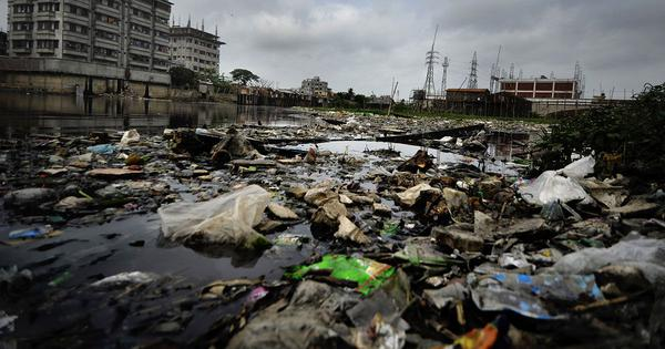 In the rains, plastic bags are worsening the flooding in Bangladesh's cities