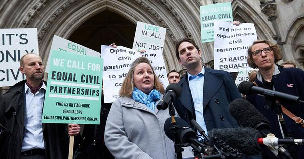 The UK rights a legal abnormality by allowing heterosexual couples to enter civil partnerships