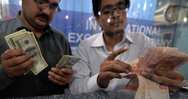 In Pakistan too, the rupee has been falling against the dollar – and there's little that can be done