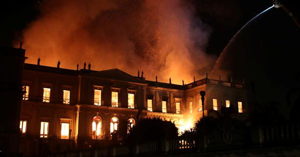 Brazil: Massive fire breaks out at 200-year-old museum in Rio de Janeiro
