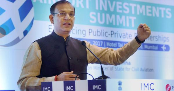 Airfares in India are the lowest per kilometre, says minister Jayant Sinha