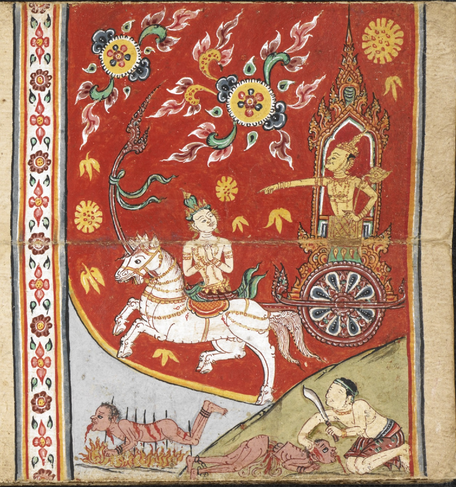 Pictures: Thai manuscripts brought the background to the forefront with  their beautiful designs
