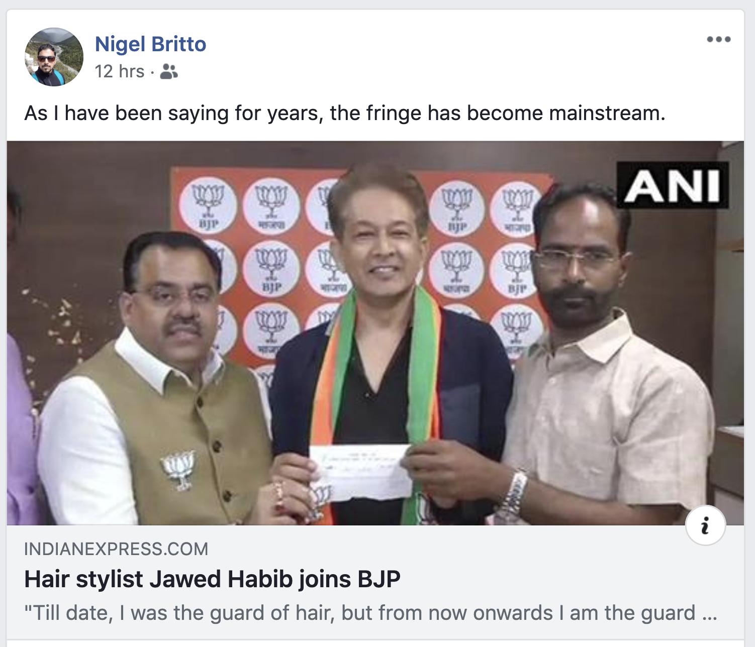 Hair Stylist Jawed Habib Joins Bjp Memes Go Viral On Social Media