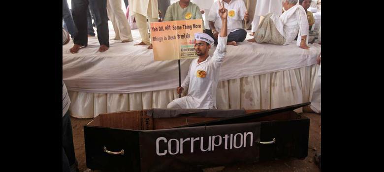 BJP slams corruption in Delhi, welcomes it in Karnataka