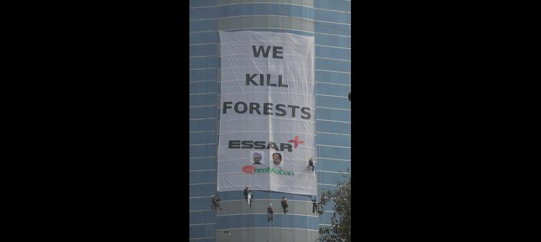 As controversial Essar coal block gets stage II nod, a Greenpeace 'window washer' vows to fight on