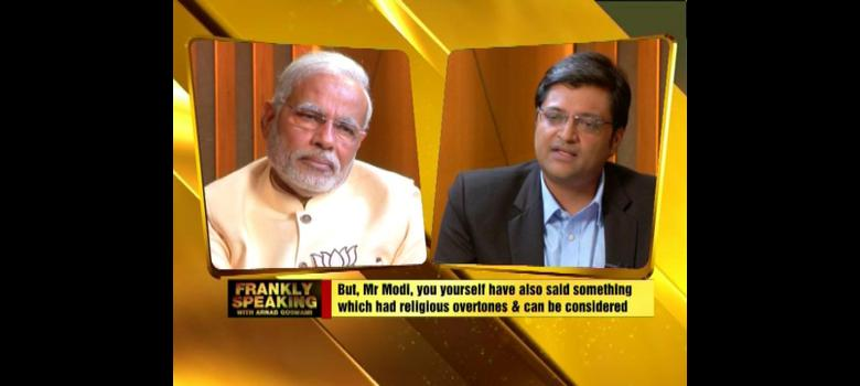 Modi faces Arnab: has the BJP's prime ministerial candidate grown up?