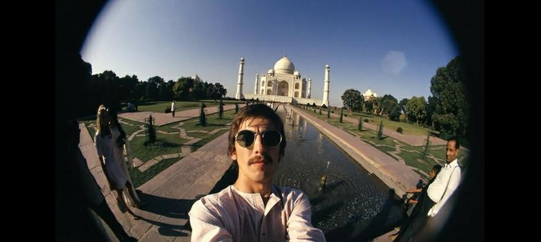 Beatle George Harrison's fisheye selfies from India in 1966