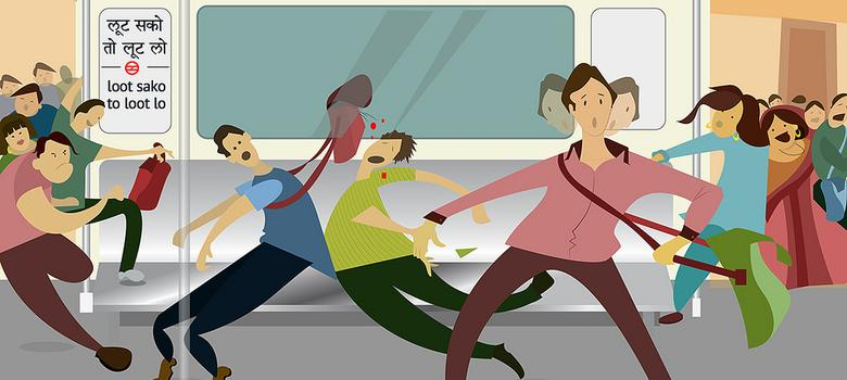 Charming drawings of the Delhi Metro by two irate passengers