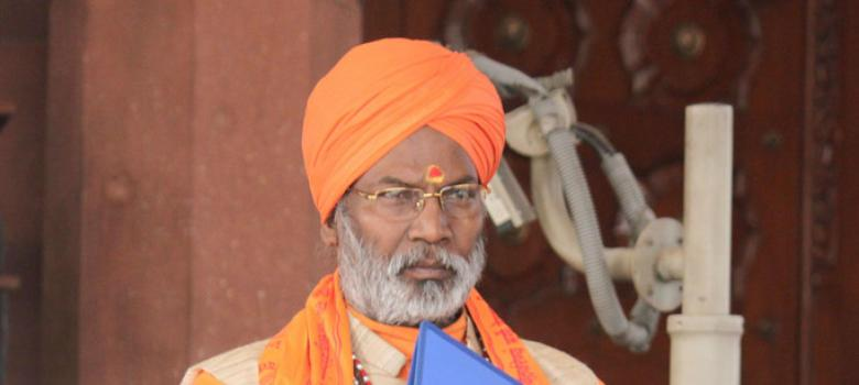 Controversial MP Sakshi Maharaj has a trail of rape and murder charges behind him