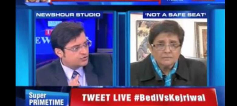 Kiran Bedi walks out of two interviews this fortnight, reminding us of Modi in 2007