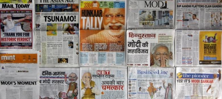 How front pages of major newspapers were 'Modi-fied' to mark his government's one year in office