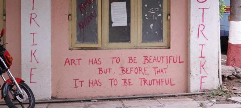 Photos: Graffiti from the FTII strike expresses students' fears ‒ and hopes